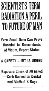 From front page of June 13, 1956 New York Times. Right column headline.