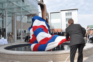Unveiling David Turner's Apprentice School sculpture