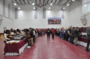 Apprentice School Gym set up for reception