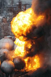 LNG at Chiba burned from Mar 11-21 after quake