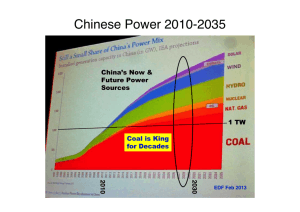 China's Power Sources Projected Through 2035