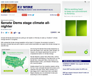 Climate change discussion by politicians. Brought to you by BP.
