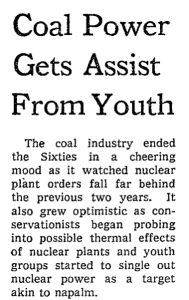 Coal Power Gets Assist From Youth