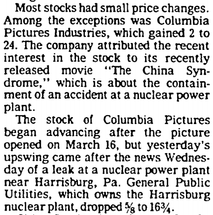 Columbia Pictures Soars March 29, 1979