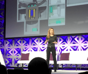Leslie Dewan of TransAtomic Power Giving Firestarter Talk at BNEF Future of Energy 2016