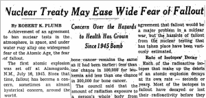 Celebrating Nuclear Test Ban Treaty, July 26, 1963