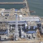 Fukushima Daiichi mess with breakwater visible