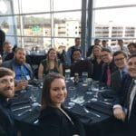 Contingent from VCU at the 2017 ANS Student Conference. In banquet facility at Heinz Field