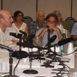 Jaczko with antinuclear activists in Vermont