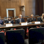 Making Nuclear Innovative:Left to Right: Josh Freed, Jessica Lovering, Todd Allen, Jeff Harper, Caroline CochranPaying attention to Sen Murkowski