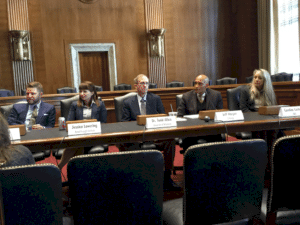Making Nuclear Innovative:<br />Left to Right: Josh Freed, Jessica Lovering, Todd Allen, Jeff Harper, Caroline Cochran<br>Paying attention to Sen Murkowski