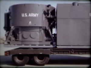 ML-1 reactor on flatbed truck