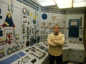 Benjamin Haas in NS Savannah Control Room