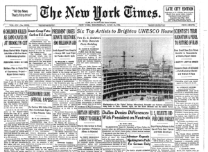 NYT Above fold June 13 1956