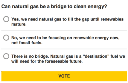 National Geographic Poll: Can natural gas be a bridge to clean energy?