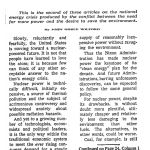 Nation's Energy Crisis: Nuclear Future Looms, New York Times, July 7, 1971