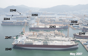 LNG Tankers at DMSE in S. Korea