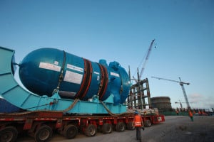 Pressure vessel for AP1000 being moved