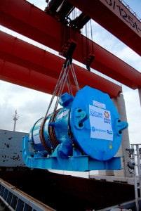 Sanmen 1 pressure vessel in sling
