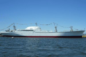 NS Savannah, dressed out for 50th Anniversary celebrations