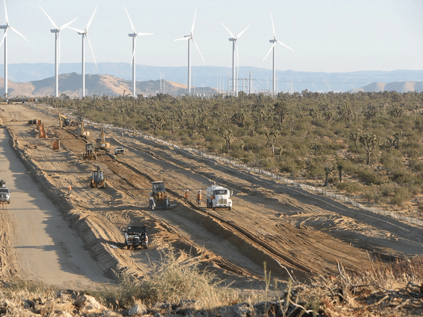 Wind farm land impact is not limited to turbine foundation