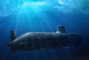Submarine Under Ice