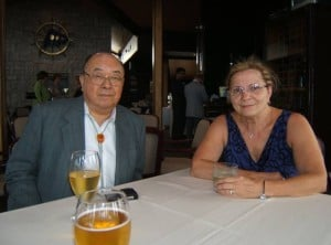 Dr. Kiyohiko Sakamoto and Vera Cuttler at the Port Credit Yacht Club, Mississauga, June 2012