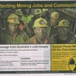 Coal Miners against nuclear power